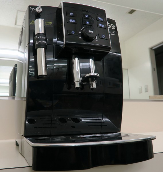 パンダスタジオ浜町スタジオに設置されたデロンギのコーヒーメーカー マグニフィカS